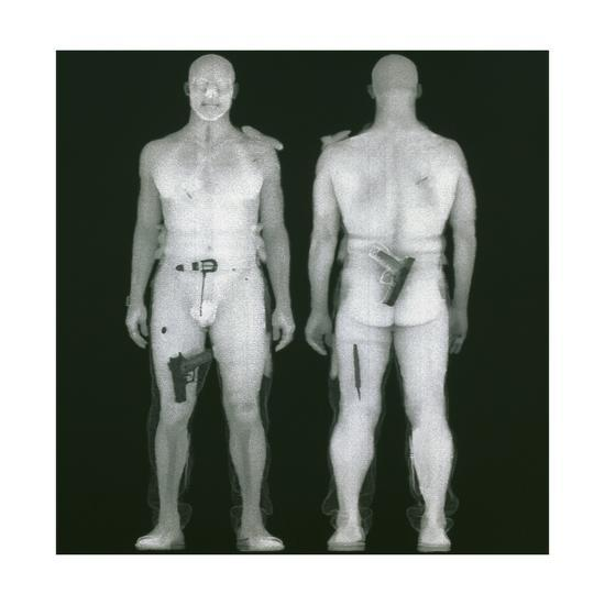 X-ray Views of Man During BodySearch Surveillance--Giclee Print