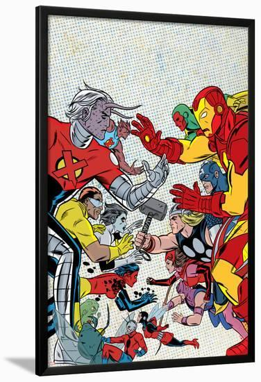 X Statix No 21 Cover Ant Man Lamina Framed Poster By Michael