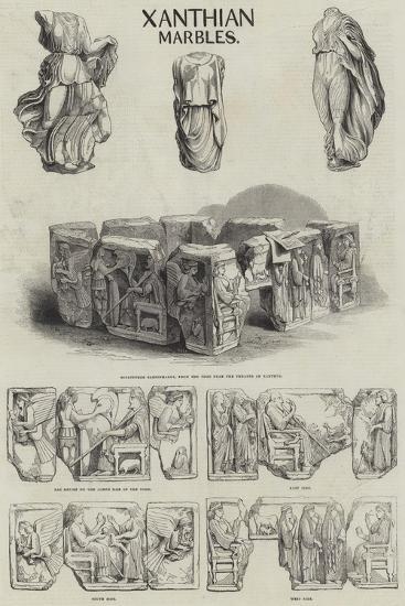 Xanthian Marbles--Giclee Print
