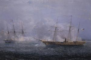 Battle Between the Uss Kearsarge and Css Alabama by Xanthus Robert Smith