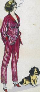 Forward Young Woman Wears a Cerise Pink and Red Pyjama Suit by Xavier Sager