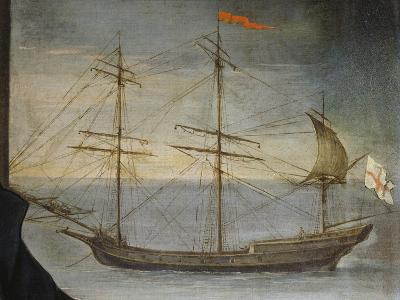 Xebec with Poplar Frame from Genoese Navy, Detail from Portrait of Captain De Andreis--Giclee Print