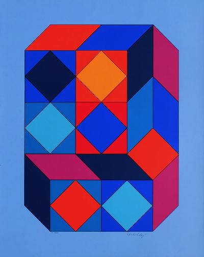 Xico I-Victor Vasarely-Limited Edition
