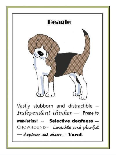 XL Beagle-Jennifer Zsolt-Giclee Print