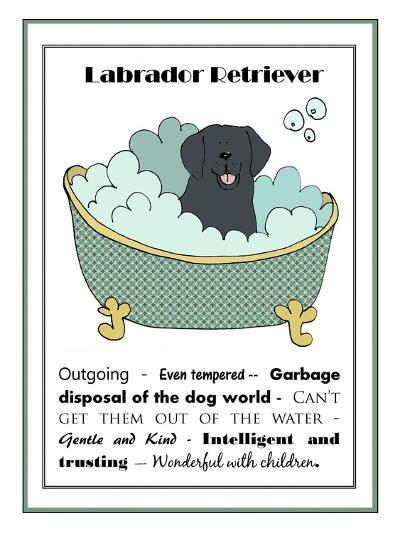 XL Black Labrador-Jennifer Zsolt-Giclee Print