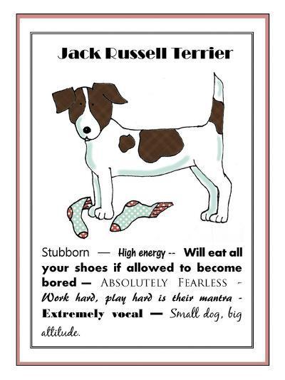 XL Jack Russell-Jennifer Zsolt-Giclee Print