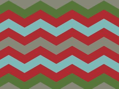 Xmas Chevron 7-Color Bakery-Giclee Print