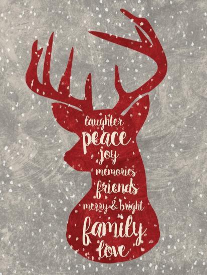 Xmas Deer-Erin Clark-Giclee Print