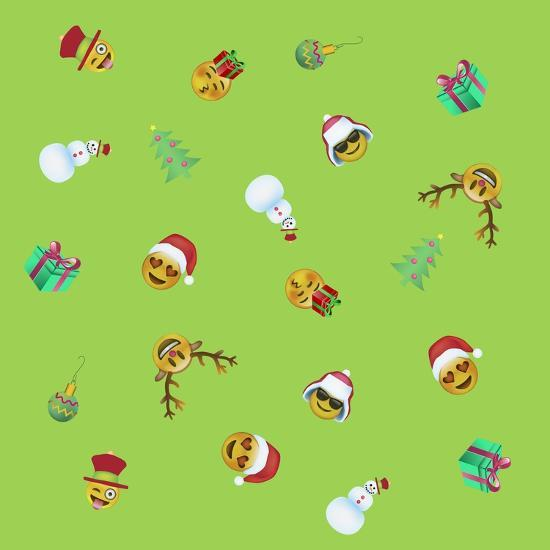 Xmas Emojis Mini Scramble-Ali Lynne-Giclee Print