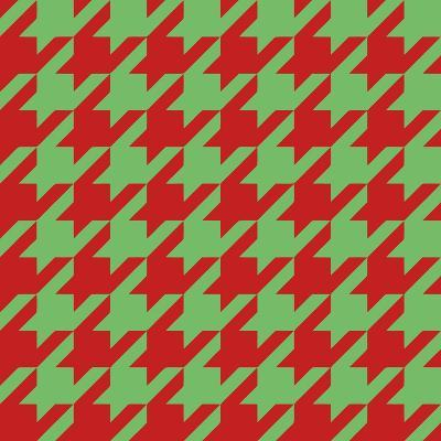 Xmas Houndstooth-Color Bakery-Giclee Print