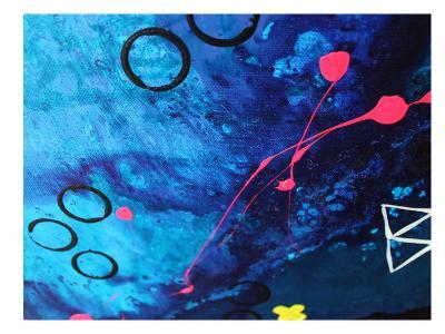 XO Splatter-Deb McNaughton-Art Print