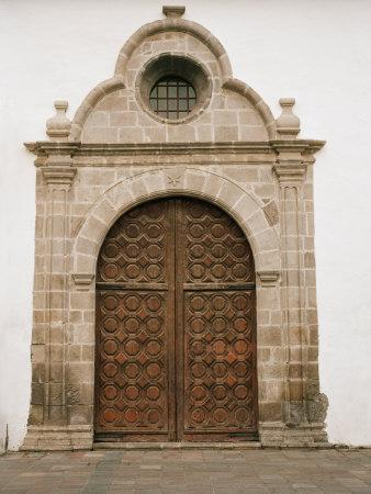 Ornate Spanish Door Is Found on a Church in San Sebastian
