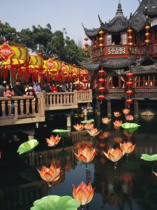 Tea House in Shanghais Yuyuan Garden during Chinese New Year by xPacifica