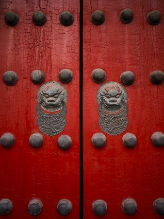 The Giant Red Doors to the Forbidden City in Beijing
