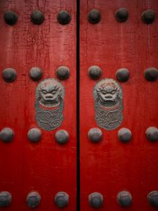 The Giant Red Doors to the Forbidden City in Beijing by xPacifica