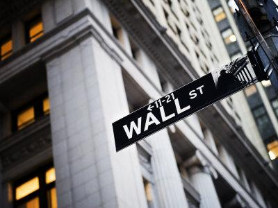 Wall Street Street Sign Near the New York Stock Exchange