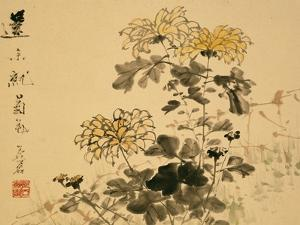 Chrysanthemums, A Leaf from an Album of Various Subjects by Xu Gu
