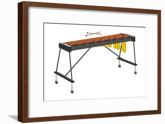 Xylophone and Mallets, Percussion, Musical Instrument-Encyclopaedia Britannica-Framed Art Print