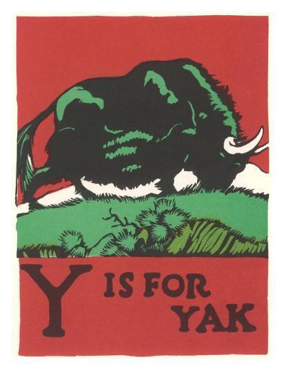Y is for Yak--Art Print