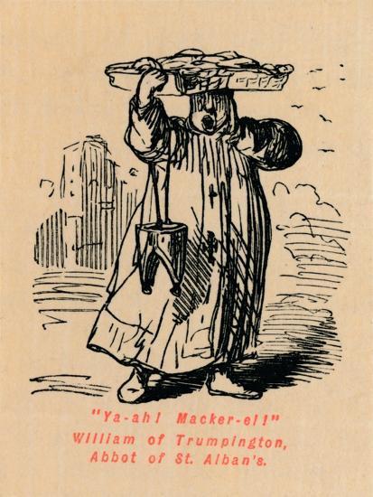 'Ya-ah! Macker-el! William of Trumpington, Abbot of St. Alban's',-John Leech-Giclee Print
