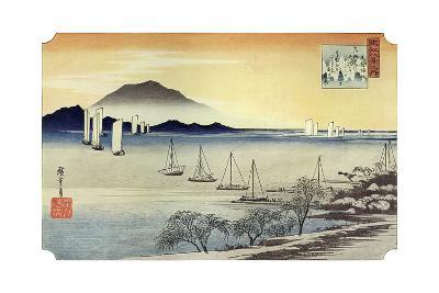 Yabase No Kihan. Fishing Boats Returning to Yabase, C1834-Ando Hiroshige-Giclee Print