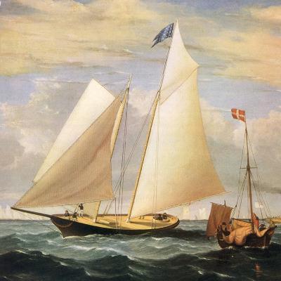 Yacht America, 1851-Fitz Hugh Lane-Giclee Print