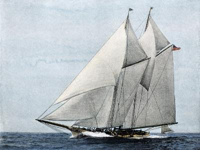 "Yacht ""America,"" First Winner of the America's Cup Race, in a Later Rig--Giclee Print"
