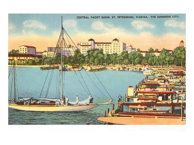 Yacht Basin, St. Petersburg, Florida--Art Print