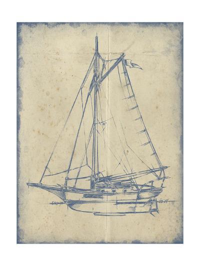 Yacht Blueprint II-Ethan Harper-Art Print