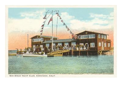 Yacht Club, Coronado, San Diego, California--Art Print