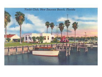 Yacht Club, New Smyrna Beach--Art Print