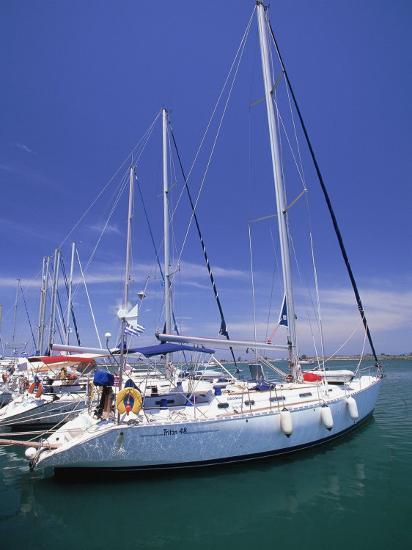 Yacht Harbor, Peloponnesos, Greece-Walter Bibikow-Photographic Print