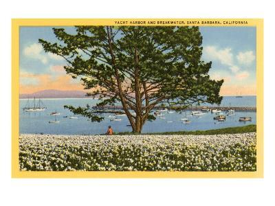 Yacht Harbor, Santa Barbara, California--Art Print