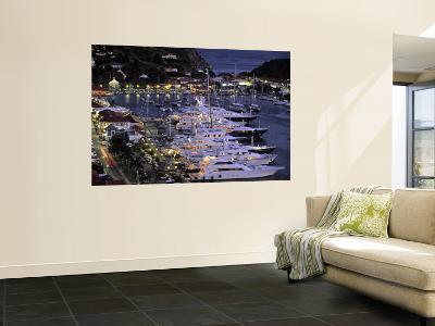 Yacht Harbour, Gustavia, St. Barts, French West Indes-Walter Bibikow-Wall Mural