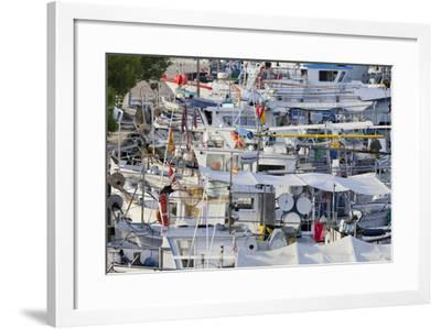Yacht Harbour in Port D'Alcudia, Majorca, Spain-Rainer Mirau-Framed Photographic Print