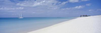 Yacht Moored Off Palm Beach-Design Pics Inc-Photographic Print
