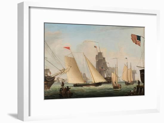 Yacht 'Northern Light' in Boston Harbor, 1845-Fitz Henry Lane-Framed Giclee Print