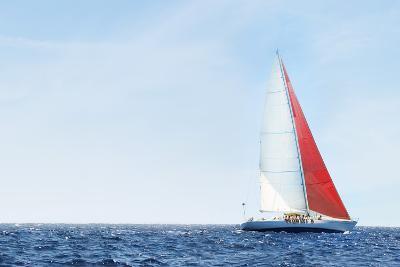 Yacht on Ocean--Photo