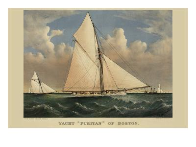 "Yacht ""Puritan"" of Boston--Art Print"