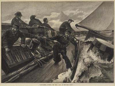 Yacht-Racing, Rounding the Buoy, Haul in the Main Sheet!-William Heysham Overend-Giclee Print