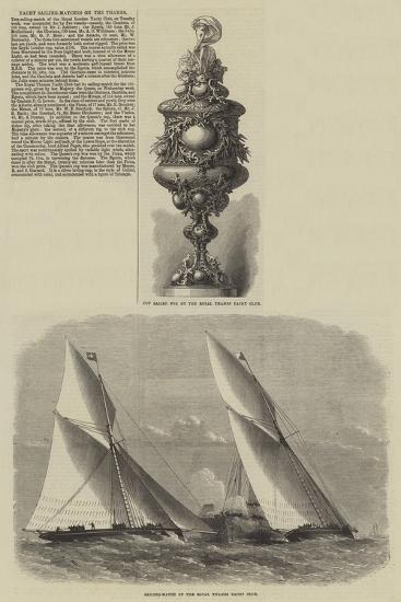Yacht Sailing-Matches on the Thames-Edwin Weedon-Giclee Print