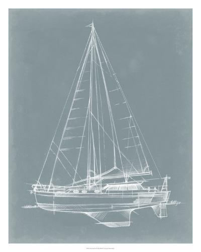 Yacht Sketches I-Ethan Harper-Giclee Print