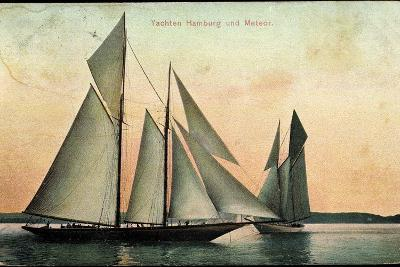 Yachten Hamburg Und Meteor, Segelboote, 2 Master--Photographic Print