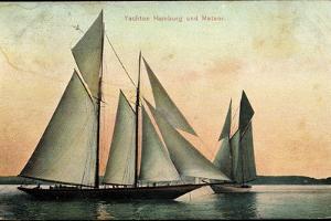Yachten Hamburg Und Meteor, Segelboote, 2 Master