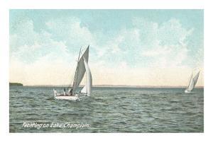Yachting on Lake Champlain, New York