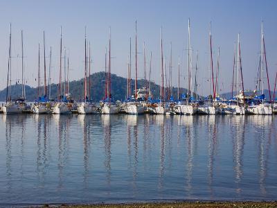Yachts Docked in the Harbor; Gocek, Mugla Province, Turkey-Design Pics Inc-Photographic Print