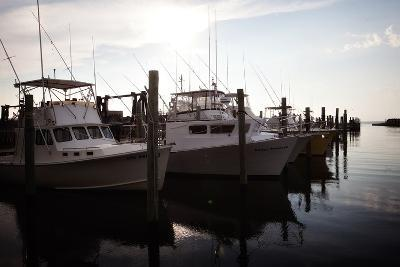 Yachts Docked in the Hatteras Marina in North Carolina-Chris Bickford-Photographic Print