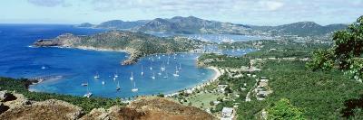 Yachts in a Harbor, English Harbor, Antigua, Caribbean Islands--Photographic Print