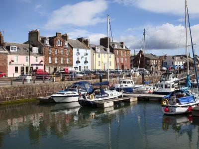 Yachts in the Harbour at Arbroath, Angus, Scotland, United Kingdom, Europe-Mark Sunderland-Photographic Print