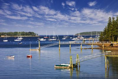 Yachts Moored near Southwest Harbor-Jon Hicks-Photographic Print